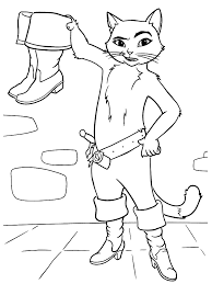 puss boots coloring pages