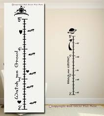 decorating with wall vinyl more personalized growth chart wall more personalized growth chart wall stickers princess and space