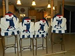 snowman chair covers snowman chair cover chair set christmas chair cover set of