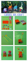 cute garden bugs craft to make with kids coloured buttons