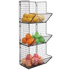 3 Shelf Wire Rack Rustic Metal 3 Tier Wall Mounted Kitchen Rack Bathroom Towel