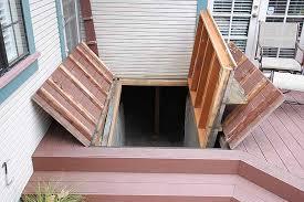 cellar accessed under hidden door in deck stashvault