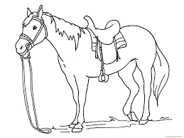 horse coloring page coloring pages kids
