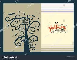 happy halloween lettering poster vector illustration stock vector