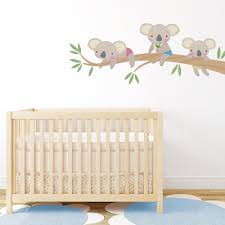 koala family printed wall decal