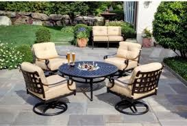 patio furniture with fire pit table makes warm evey time furniture