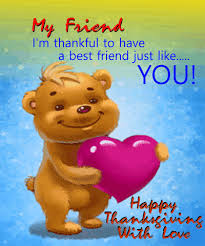 for a true friend on thanksgiving day thank you