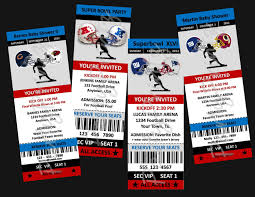 sports ticket template template examples