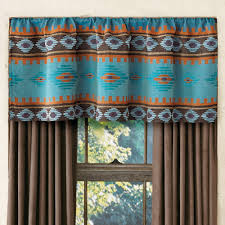 Cowboy Curtain Rods by Skystone Turquoise Rod Pocket Southwest Valance