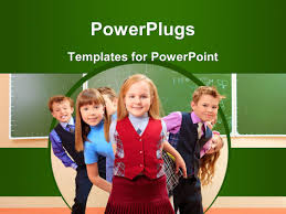 free children powerpoint templates children powerpoint templates crystalgraphics powerplugs powerpoint template with a number of kids with greenish background and place for text