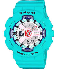 light blue g shock watch g shock baby g ba110sn 3a blue watch zumiez