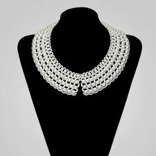 white collar necklace images Pearl peter pan collar necklace pearl false collar choker beaded jpg