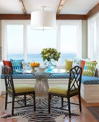 dining room table with sofa seating