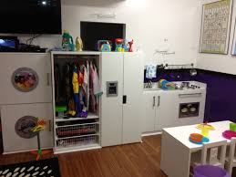 daycare play kitchen dress up and pretend washer and dryer
