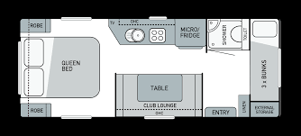 Class C Floor Plans by Cadet Platinum Kokoda Caravans