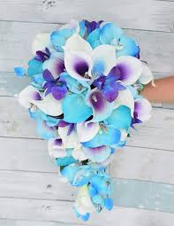 blue orchids touch turquoise aruba callas purple picasso and purple blue