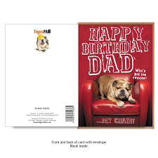 birthday dad english bulldog birthday card