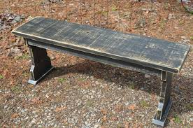 farmhouse style rustic wood bench painted bench distressed wood