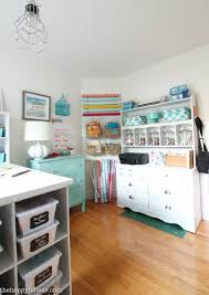 Desk Organized by How To Organize A Craft Room Work Space The Happy Housie