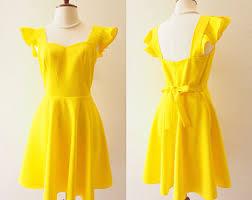 yellow dress yellow dress etsy