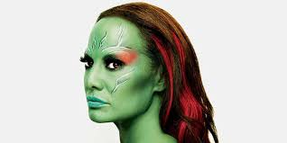 airbrush makeup for halloween a step by step tutorial on becoming gamora for halloween video