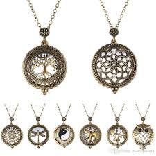 vintage necklace chains images Wholesale vintage jewelry magnifying loupe long chains necklace jpg