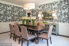 Dining Room Drum Chandelier Dining Room With Interior Wallpaper Crown Molding Zillow Digs