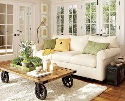 Wooden Living Room Sets Decoration Elegant Black Shade Table Lamp On Black Wooden Sofa
