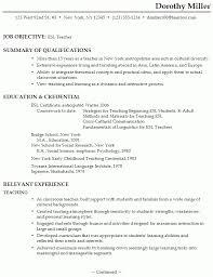English Teacher Resume Examples by Esl Teacher Resume Example Best Letter Sample