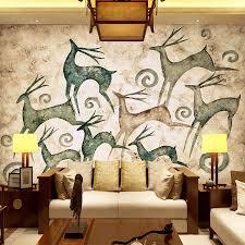 aliexpress com buy nature animal deer diy 3d wallpaper wall material textured embossed mural paper