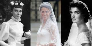 wedding dresses of style icons lady di grace kelly audrey