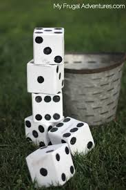 simple diy yard dice outdoor games or math practice my frugal