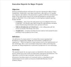committee report template executive report templates 9 free sle exle format