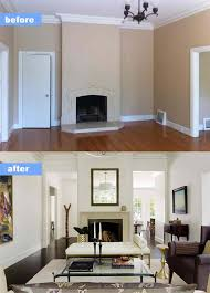 home design before and after before and after living room designs