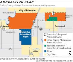 Edmonton Canada Map by Edmonton Expands To Airport U0027s Edge In Annexation Deal Edmonton