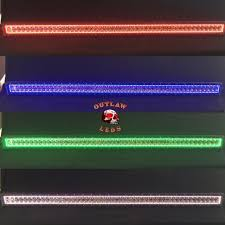 52 inch led light bar with color changing halo outlawleds