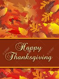 vertical illustration of fall foliage with thanksgiving message