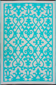 Cream And Blue Rug Venice Area Rug Mediterranean Area Rugs By Fab Habitat