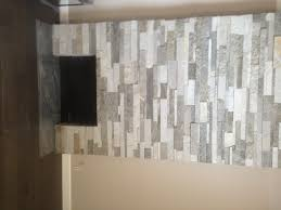 view stacked stone tile fireplace room ideas renovation beautiful