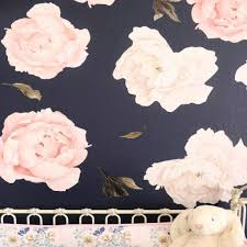 large peony flower wall decals caden lane peony rose floral large wall decals for a floral nursery large peony flower