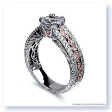 Black And Pink Wedding Rings by Beautiful Diamond Ring Settings Handmade Wedding Rings