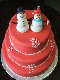 picture of adorable christmas wedding cakes