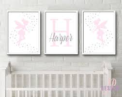 Personalised Baby Nursery Decor Pink And Silver Personalised Baby Name Print Unique Baby