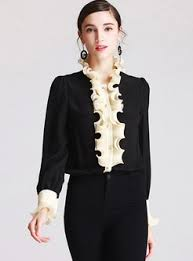 black blouse with white collar blouses for high quality shop free shipping ezpopsy com