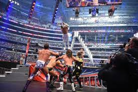 playstation 4 wrestlemania 32 review wwe wrestlemania best pictures as shane mcmahon leaps from the top