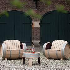Wine Barrel Patio Table Home Dzine Garden Ideas Garden Furniture Made From Wine Barrels