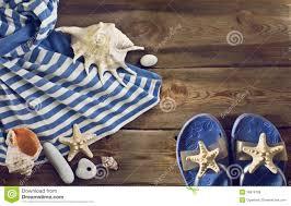 seashell flip flops flip flops striped dress seashells on a wooden floor