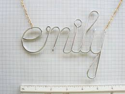 Wire Name Necklace Fine Name Necklace Bracelet Choker Wire Jewelry Necklace With