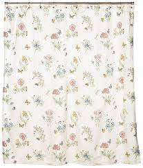 Vintage Floral Shower Curtains Amazon Com Lenox Butterfly Meadow Shower Curtain Home U0026 Kitchen
