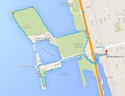 Map Berkeley A Nice Running Route Through The Berkeley Marina And Cesar Chavez Park